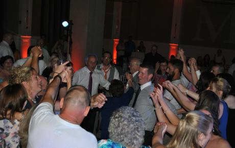 Audio Events | Wedding guests dancing at the Portsmouth Harbor Event & Conference Center