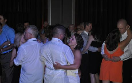 Audio Events | Bride and groom share a dance with their wedding guests