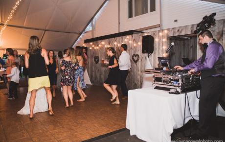 Dancing at Flag Hill Winery - Lee, NH. Photo by Jayna Cowal Photography - Wedding DJ Audio Events