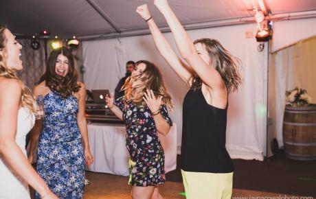 Dancing at Flag Hill Winery - Lee, NH. Photo by Jayna Cowal Photography New Hampshire Wedding DJs Audio Events