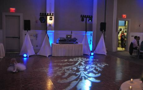 Projection Monogram on the Dance Floor at Portsmouth Harbor Event Center - Audio Events
