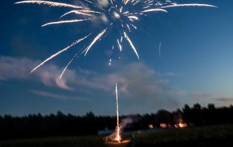 Fireworks at Flag Hill Winery Lee, NH. Photo by Jayna Cowal Photography - New Hampshire Wedding DJs